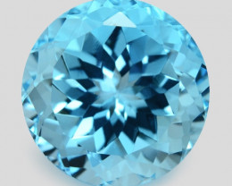 13.62 Carat Swiss Blue Natural Topaz Gemstone