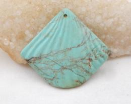 122cts Shell Turquoise Pendant ,Handmade Gemstone ,Turquoise Cabochons H713