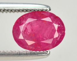 Brilliant Color 1.35 Ct Natural Ruby From Afghanistan