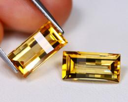 Citrine 5.69Ct VVS Pixalated Cut Natural Golden Yellow Citrine BT0194