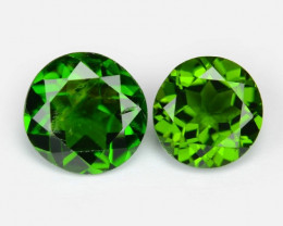 1.52 Cts 2 Pcs Natural Green Color Chrome Diopside Loose Gemstone