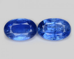 4.02  Cts 2 Pcs Fancy Royal Blue Color Natural Kyanite Gemstone
