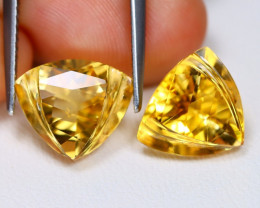 Citrine 6.37Ct VVS Designer Cut Natural Golden Yellow Citrine BT0201