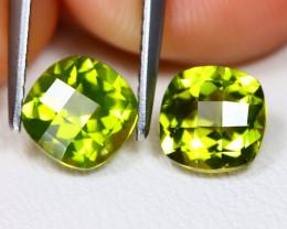 Peridot 2.11Ct VVS Pixalated Cut Natural Neon Green Peridot BT0206