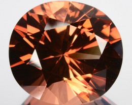 ~CUSTOM CUT~ 16.26 Cts Natural Orangish Brown Tourmaline Oval Fancy Cut Nig