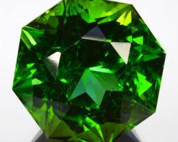 ~CUSTOM CUT~ 18.72 Cts Natural Fine Green Tourmaline Fancy Octagon Cut Nige