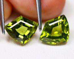 Peridot 3.40Ct VVS Shield Cut Natural Neon Green Color Peridot BT0215