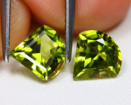 Peridot 2.14Ct VVS Fancy Cut Natural Neon Green Color Peridot B7715
