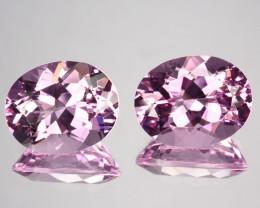~RAREST~ 6.64 Cts Natural Beautiful Pink Morganite Oval Cut 2Pcs PAIR Brazi