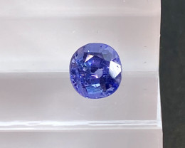 0.79ct unheated blue sapphire