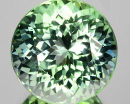 ~BRILLIANT~ 13.58 Cts Natural Mint Green Tourmaline 14.5mm Round Cut Congo