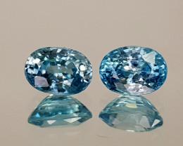 2.87Crt Blue Zircon Natural Gemstones JI19