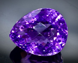 19.51 Crt Natural  Amethyst Faceted Gemstone.( AB 37)