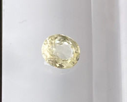 0.73ct natural unheated clean yellow sapphire