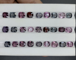 29.54 CT Natural spinal Gemstone Parcel/27 pc