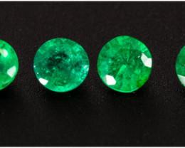 Emerald  0.60 ct Zambia GPC Lab