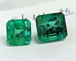 14.76 Colombian Emerald Pair