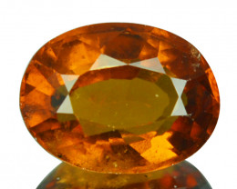 3.08 Cts Natural Hessonite Garnet Cinnamon Orange Oval Sri Lanka