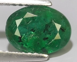 1.75 CTS EXCELLENT NATURAL ZAMBIAN EMERALD UNHEATED OVAL DAZZLING!!