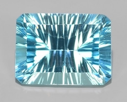 16.75 CTS DAZZLING !LASER FANCY CUT SKY COLOR BLUE-TOPAZ GENUINE!
