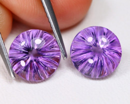 Amethyst 3.94Ct VVS Designer Cut Natural Bolivian Purple Amethyst BT0255
