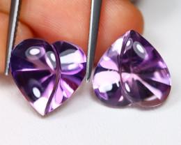 Amethyst 10.28Ct VVS Designer Cut Natural Bolivian Purple Amethyst BT0273