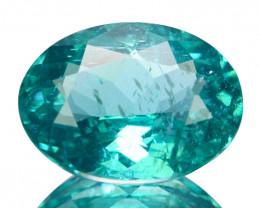 1.46 Cts Natural Apatite Paraiba Blue Green Color Oval mix Cut Brazil