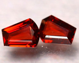 Almandine 3.00Ct 2Pcs Natural Vivid Blood Red Almandine Garnet EF1021/B3
