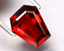 Almandine 3.15Ct Natural Vivid Blood Red Almandine Garnet EF1022/B3
