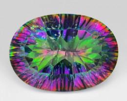 11.11 Cts Rare Fancy Multi Colors Natural Mystic Topaz