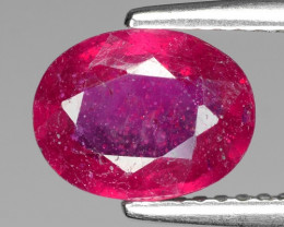 1.95 Cts Shape Pinkish Red Natural Ruby BURMA  Loose Gemstone