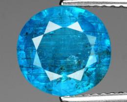 *No Reserve*Apatite 3.06 Cts Un Heated Natural Neon Blue Color