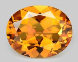 No Reserve Mystic Quatz 4.43 Cts Fancy Orange Color Natural