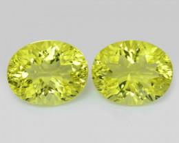 5.09 Cts 2 Pcs Natural Lemon Quartz Gemstones