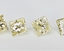 4/0.60 cts , Natural Yellow Diamonds , Diamonds For Jewelry
