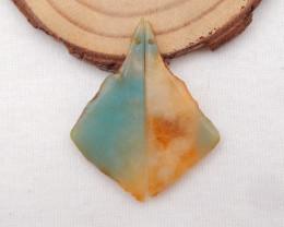 29.5cts Amazonite earrings ,nugget earrings ,Designer Making H824