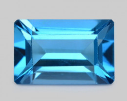 3.46 Carat London  Blue Natural Topaz Gemstone