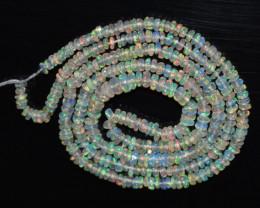 18.30 CT Ethiopian Opal Beads Strand 100% Natural and Untreated Gemstone VA
