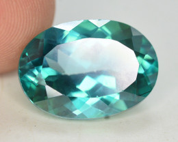 7.55 Cts Emerald Green Surface Treated Topaz