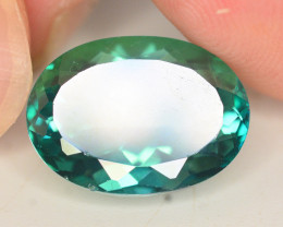 8.15 Cts Emerald Green Surface Treated Topaz