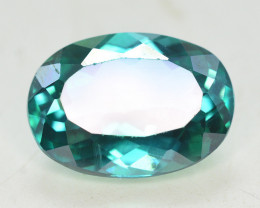 7.70 Cts Emerald Green Surface Treated Topaz