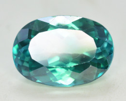 8 Cts Emerald Green Surface Treated Topaz