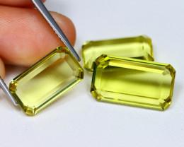 Lemon Quartz 15.68Ct VVS Octagon Cut Natural Lemon Quartz A1006