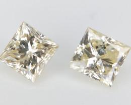 2/0.35 CT , Natural Princess Diamonds , Yellow Natural Diamonds