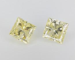 2/0.30 CT ,  Color Diamonds , 2 piece Diamonds