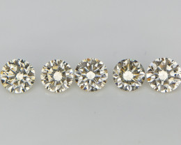 5 pcs/0.536 cts , Natural Diamonds Parcel , VS Diamonds