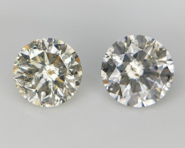 2/0.72 CT . Round Natural Diamonds . Diamonds For Jewelry