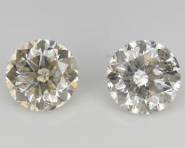 2/0.65 ct , Round Brilliant Cut , Loose Diamond Gemstones