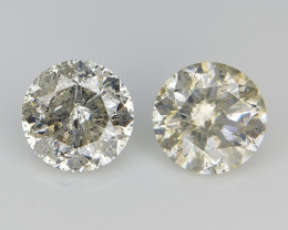 2/0.78 cts , Round Natural Diamonds , Diamonds For Jewelry