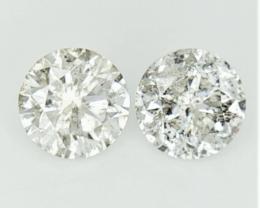 2/0.78 cts , Round Natural Diamonds , Diamonds For Jewelry